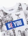 Купить белую футболка с Animal-принтом BellBimbo