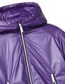 Купить фиолетовую демисезонную куртку с капюшоном