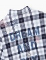 Фланелевая рубашка в клетку для девочки